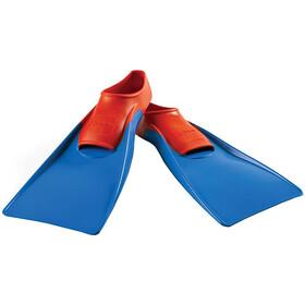 FINIS Long Aletas Flotantes, azul/rojo